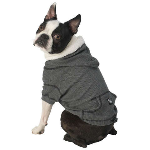 Bentley's Fur Trimmed Grey Dog Hoodie