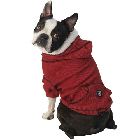 Bentley's Fur Trimmed Red Dog Hoodie