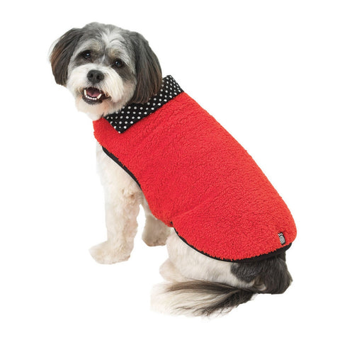 Fido's Fuzzy Fleece Red Dog Vest