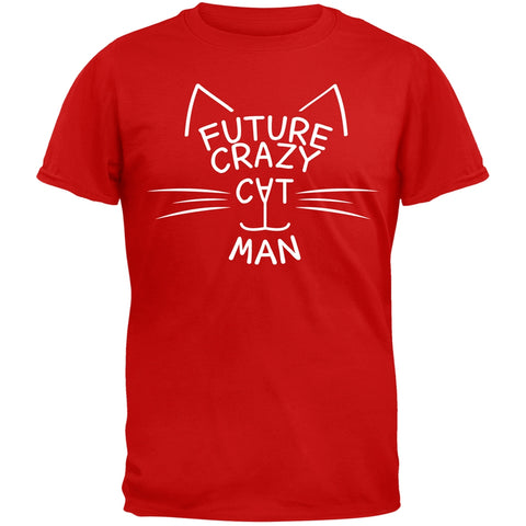 Future Crazy Cat Man Red T-Shirt