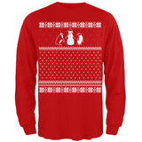 Penguins Ugly Christmas Sweater Red Long Sleeve T-Shirt