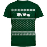 Polar Bears Ugly Christmas Sweater Red Youth T-Shirt