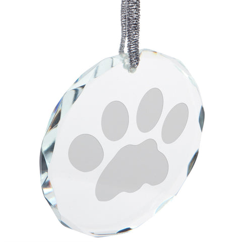 Cat Paw Round Crystal Ornament