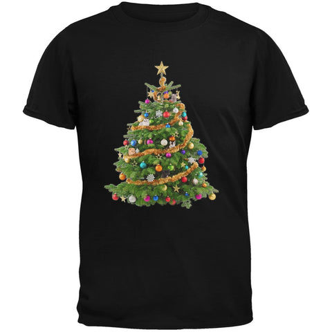 Cats In Christmas Tree Black Youth T-Shirt