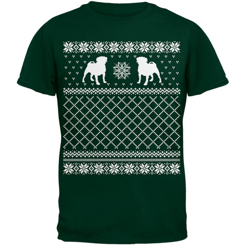 Pug Ugly Christmas Sweater Green T-Shirt