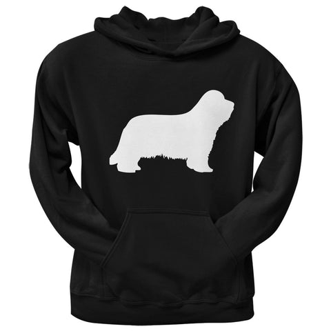 Bearded Collie Silhouette Black Adult Hoodie