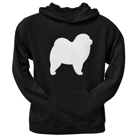 Chow Chow Silhouette Black Adult Hoodie