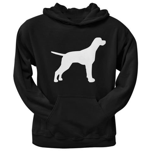 English Pointer Silhouette Black Adult Hoodie