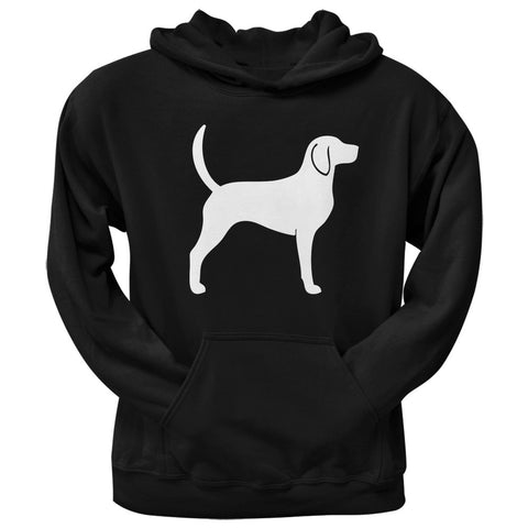 Foxhound Silhouette Black Adult Hoodie