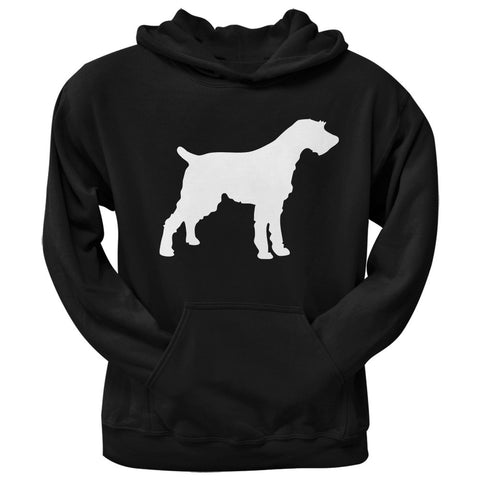 German Wirehaired Pointer Silhouette Black Adult Hoodie
