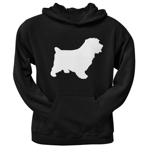 Norfolk Terrier Silhouette Black Adult Hoodie