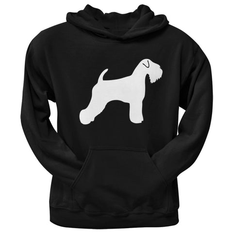 Soft Coated Wheaten Terrier Silhouette Black Adult Pullover Hoodie