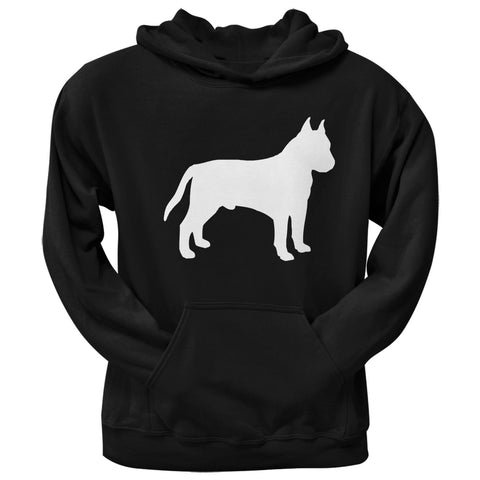 Staffordshire Bull Terrier Silhouette Black Adult Pullover Hoodie