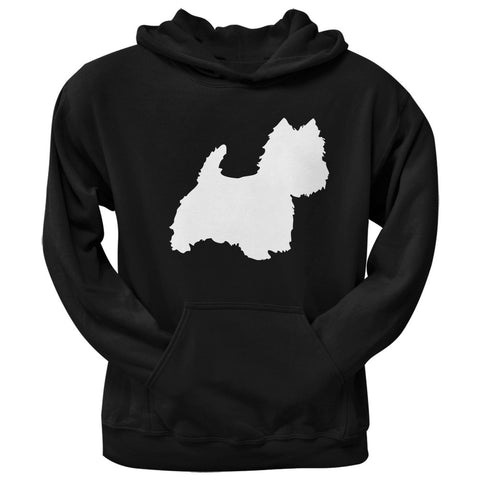 West Highland Terrier Silhouette Black Adult Pullover Hoodie