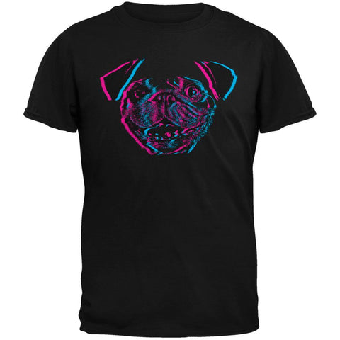 3D Pug Face Black Youth T-Shirt