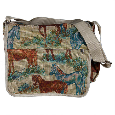 Horse Tapestry Messenger Bag