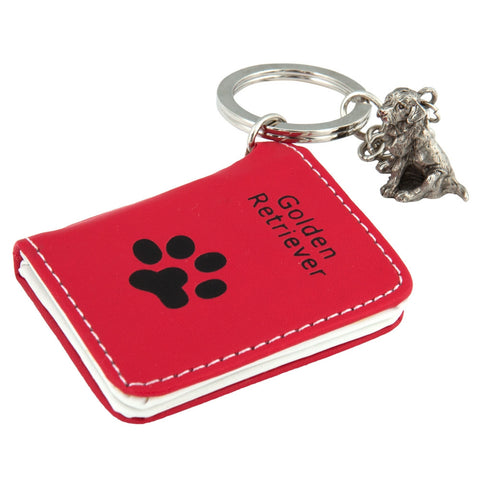 Golden Retriever Photo Wallet Keychain