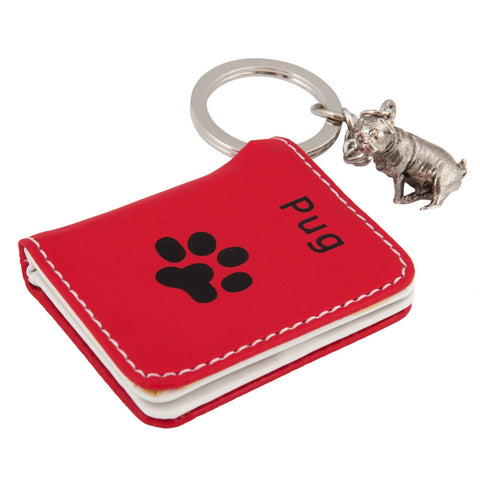 Pug Photo Wallet Keychain