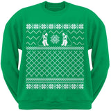 Saint Bernard Ugly Christmas Sweater Dark Green Crew Neck Sweatshirt
