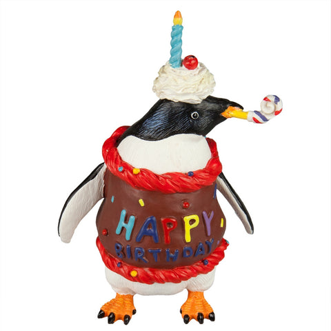 Happy Birthday Penguin Figurine