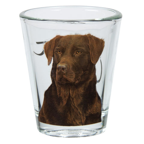 Labrador Retriever Portrait Shot Glass