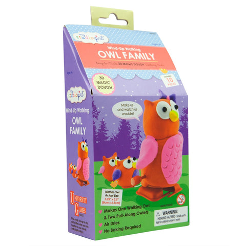 Owl Family Dough Modeling Wind-Up Walking Kit