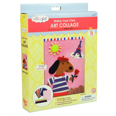 French Dog Art Collage Kit