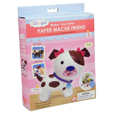 Dog Paper Mache Friend Kit