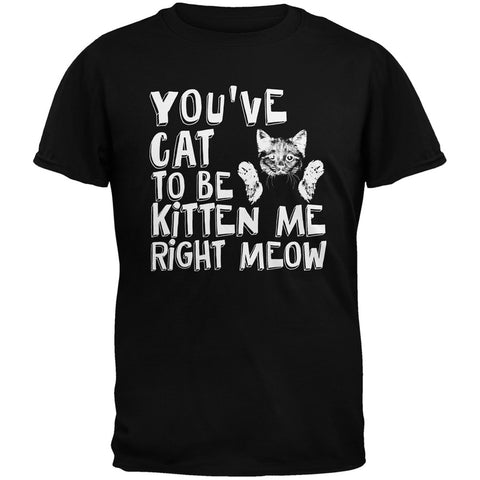 You've Cat To Be Kitten Me Right Meow Black Youth T-Shirt