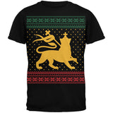 Lion of JudahUgly Christmas Sweater Black Adult T-Shirt