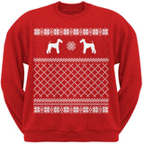 Airedale Terrier Black Adult Ugly Christmas Sweater Crew Neck Sweatshirt