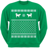 Alaskan Husky Black Adult Ugly Christmas Sweater Crew Neck Sweatshirt