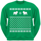 Bulldog Black Adult Ugly Christmas Sweater Crew Neck Sweatshirt