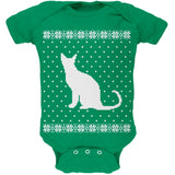 Big Cat Ugly Christmas Sweater Black Soft Baby One Piece