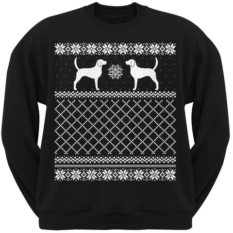Foxhound Black Adult Ugly Christmas Sweater Crew Neck Sweatshirt