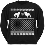 French Bulldog Black Adult Ugly Christmas Sweater Crew Neck Sweatshirt