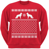 German Shepherd Black Adult Ugly Christmas Sweater Crew Neck Sweatshirt