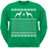 Italian Greyhound Black Adult Ugly Christmas Sweater Crew Neck Sweatshirt