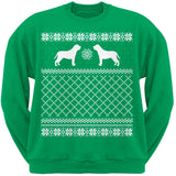Mastiff Black Adult Ugly Christmas Sweater Crew Neck Sweatshirt
