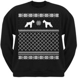 Schnauzer Black Adult Ugly Christmas Sweater Crew Neck Sweatshirt