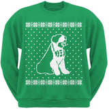 Big Saint Bernard Ugly Christmas Sweater Black Crew Neck Sweatshirt