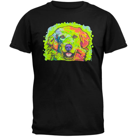 Golden Retriever Neon Black Light Adult T-Shirt
