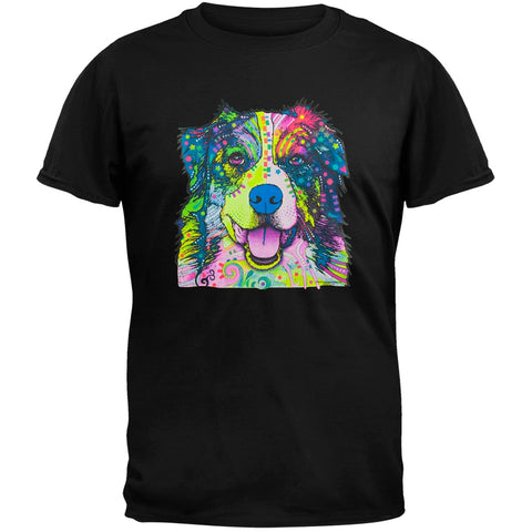 Australian Shepherd Neon Black Light Adult T-Shirt