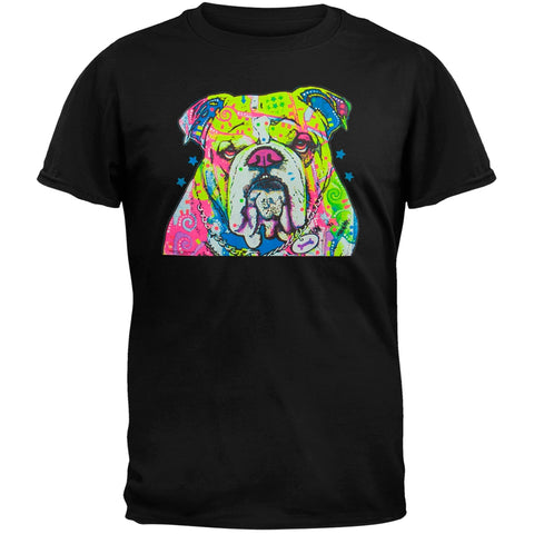 The Bulldog Neon Black Light Adult T-Shirt