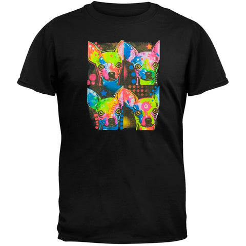 Four Chihuahuas Neon Black Light Youth T-Shirt
