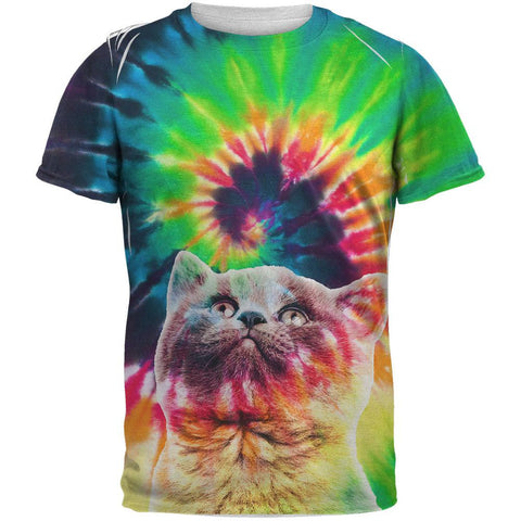 Cat Tie Dye Sublimated Adult T-Shirt