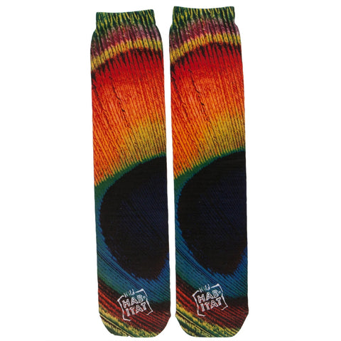 Peacock Pattern Sublimated Socks