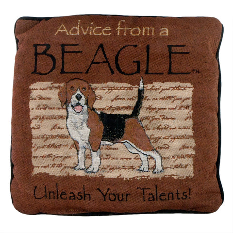 Advice From a Dog Beagle Throw Pillow