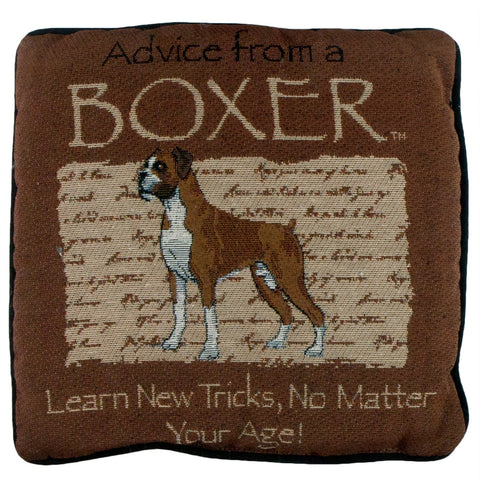 Advice From a Dog Boxer Throw Pillow