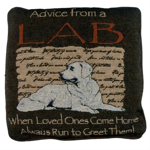 Advice From a Dog Lab Throw Pillow